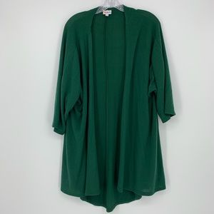LulaRoe Green Long Sleeve Cardigan Size Medium